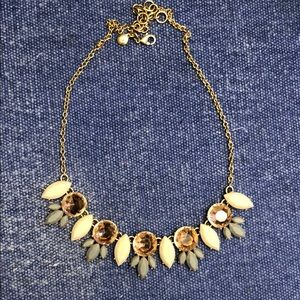 J. Crew Necklace-gold/pink/grey